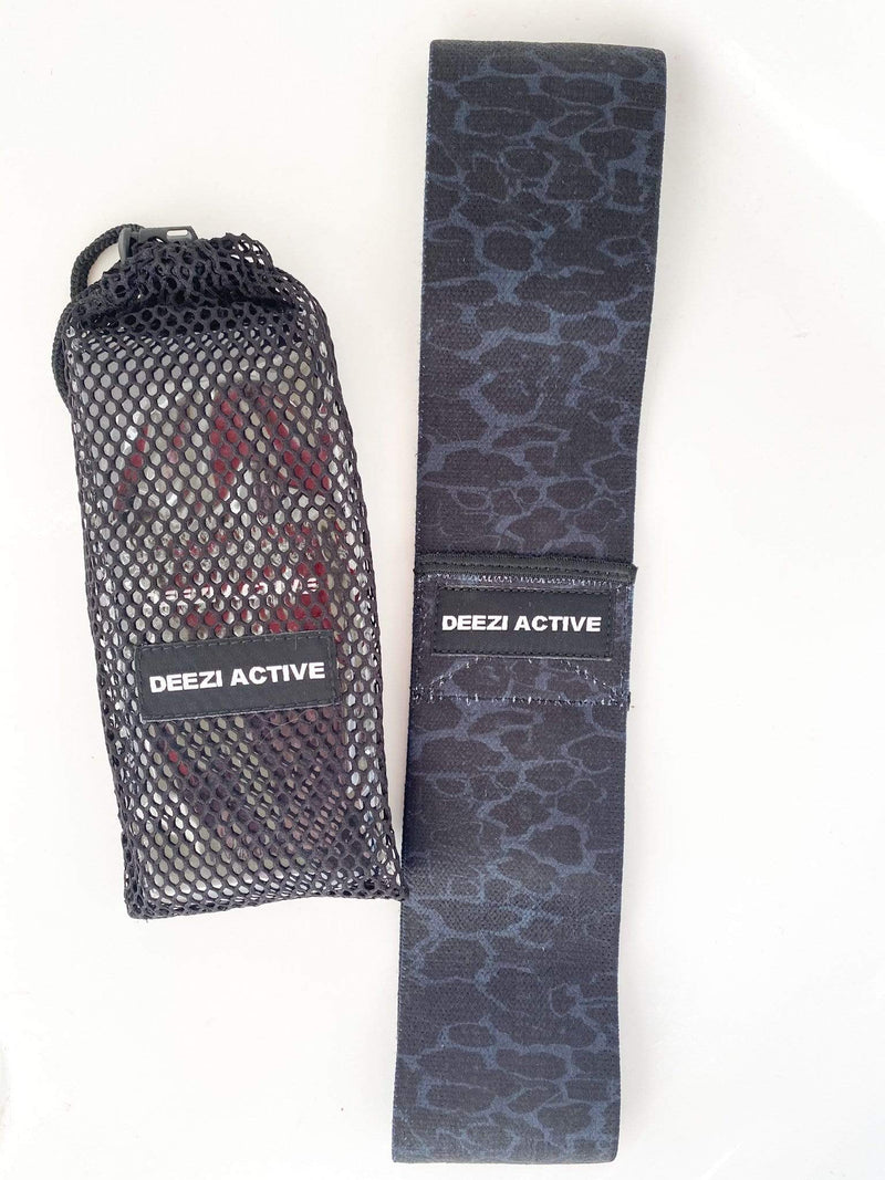 Deezi Active Booty Bands Leopard Resistance Booty Band - Black Leopard