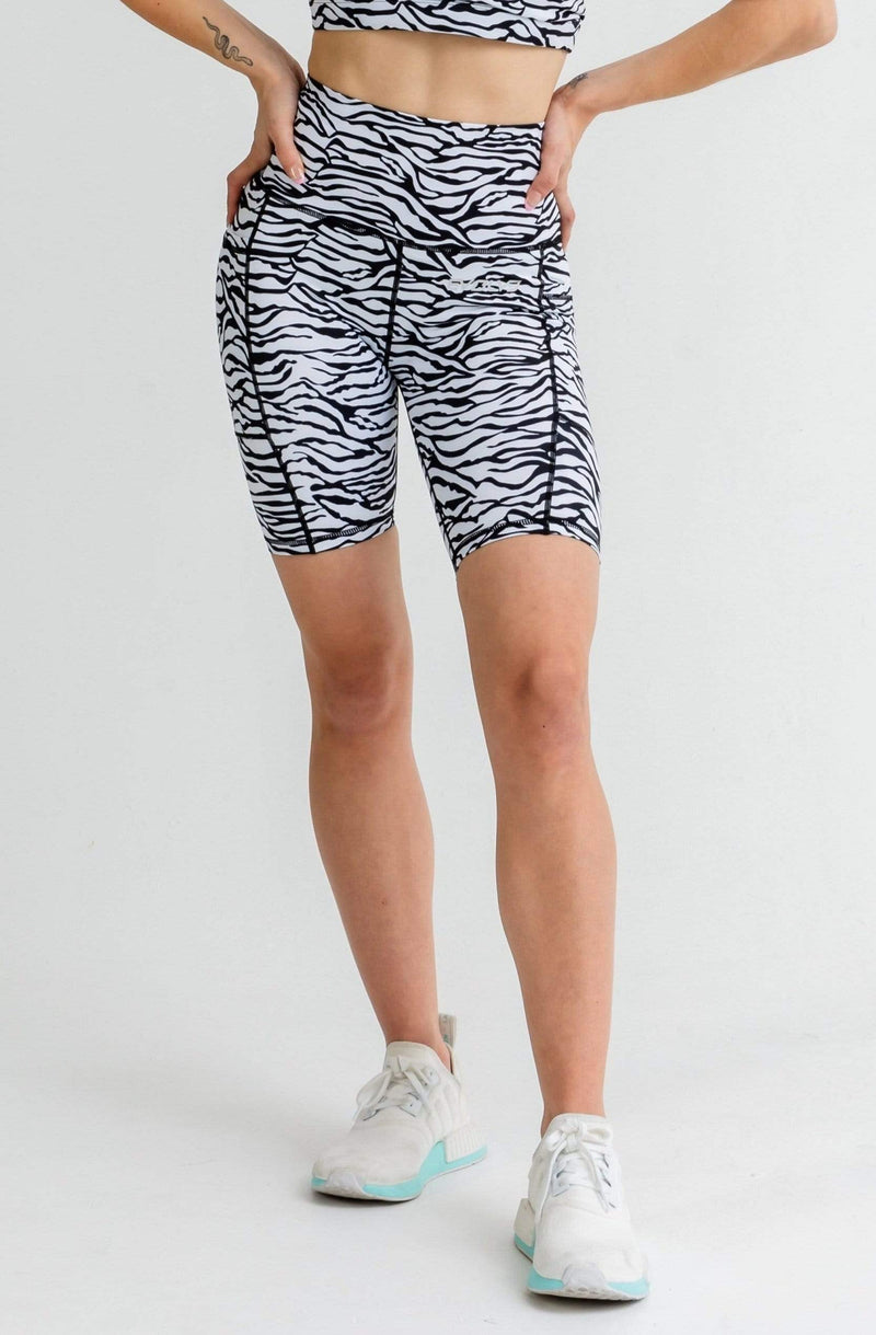 Evolve Apparel Jungle Bike Shorts - Zebra