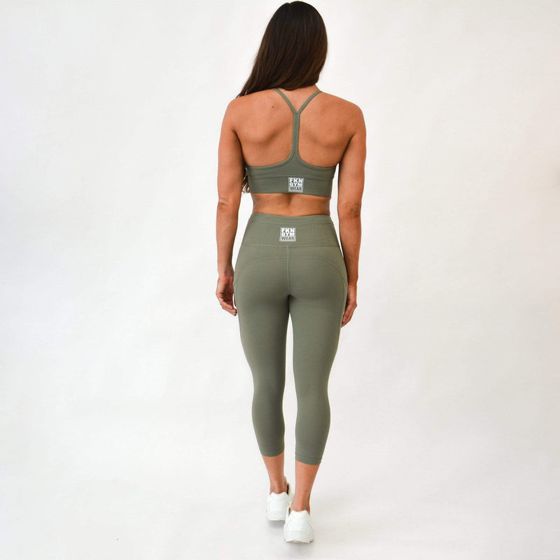 FKN Gym Wear Gym Leggings A2G GYM LEGGINGS | KHAKI 7/8