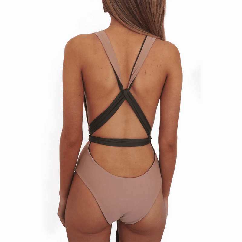 Gerrycan body suit Lilah One Piece // Khaki And Nude