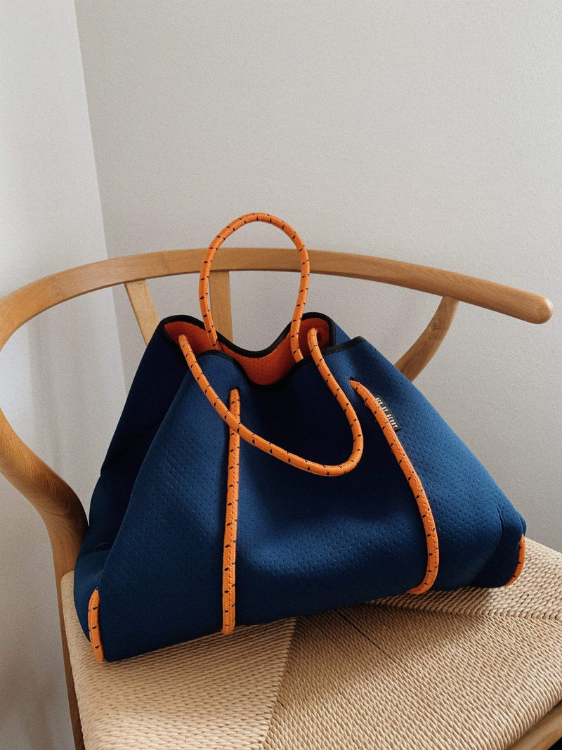Gerrycan neoprene bag Neo By Gerry // Endless Summer Navy + Citrus