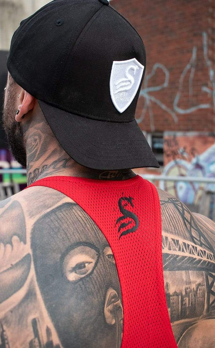Stay Shredded BALLER - HYBRID T-BACK - Red