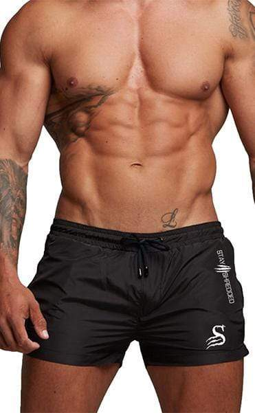 Stay Shredded SHORTS Quads of the Gods Lifting Shorts - BLACK/WHITE