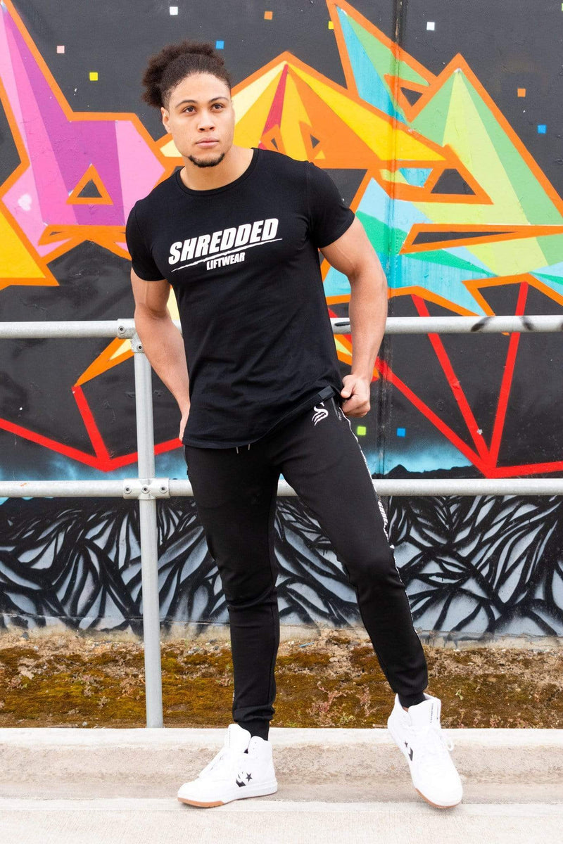 Stay Shredded tshirt SHREDDED LIFTWEAR - Muscle T-Shirt - Black/White