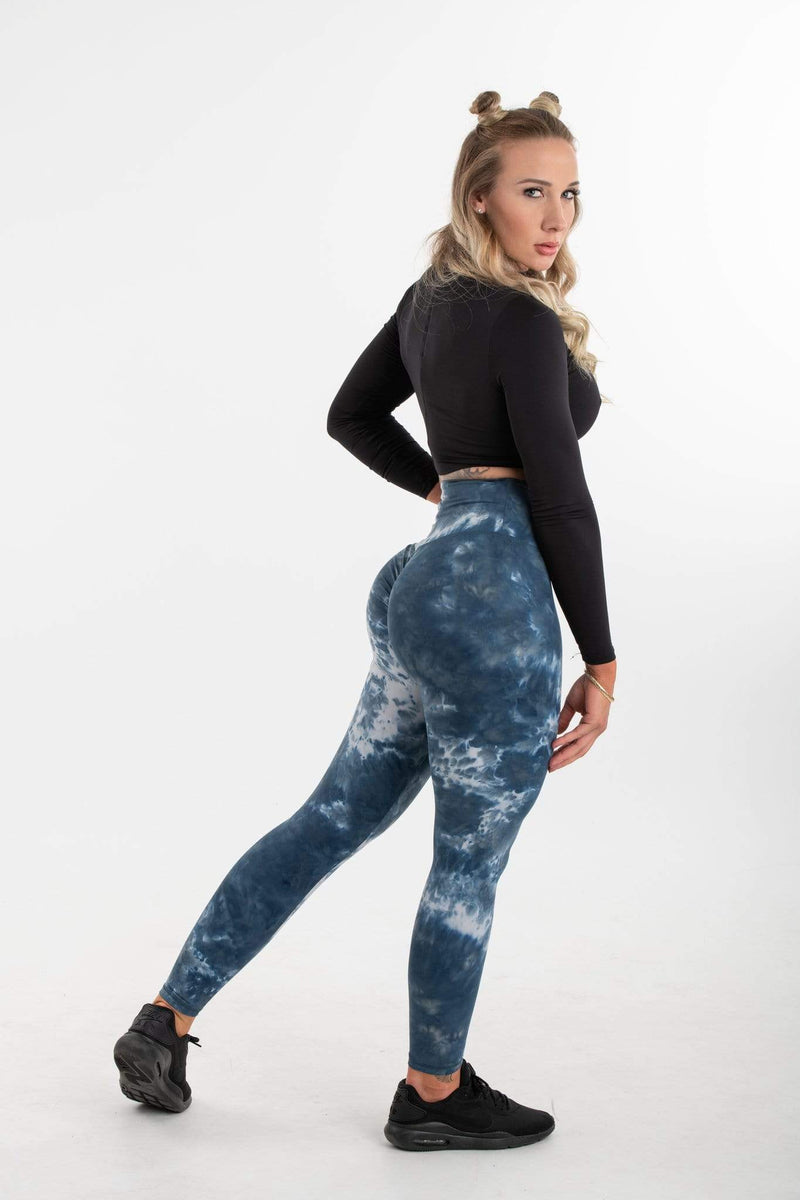 Stop It I Like It Leggings NIGHT (BLUE & WHITE)