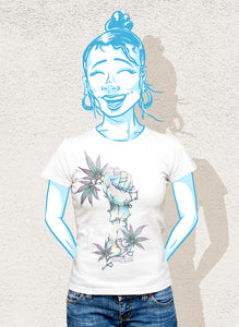 A one-of-a-kind shirt to support women in cannabis