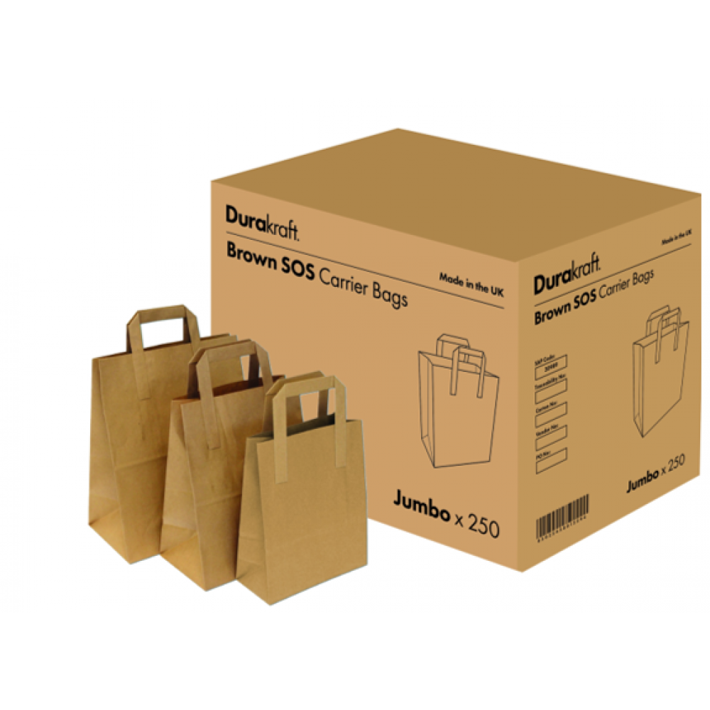 Durakraft Paper Bags With Handles X 250 Small Cameron