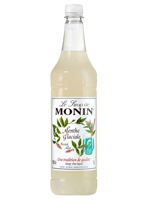 Monin Frosted Mint Coffee Syrup (Plastic) 1 Litre