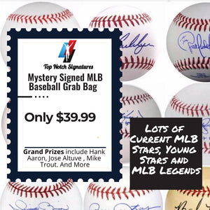 (1) Top Notch Signatures Mystery Signed MLB Baseball - Top Notch Signatures LLC