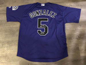 Carlos Gonzalez Authentic Signed Colorado Rockies Jersey - ALL STAR CARGO - Top Notch Signatures LLC