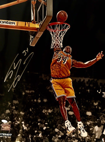 Shaquille O'Neal Authentic Signed 16x20 (STEINER COA) LA LAKERS MVP NBA CHAMP