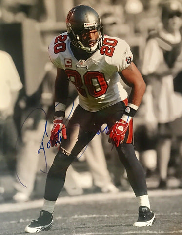 Ronde Barber Authentic Signed 16x20 (COA) Tampa Bay Buccaneers All-Pro SB CHAMP