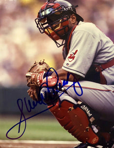 Sandy Alomar Jr. Autographed Authentic Signed 8x10 Photo (COA) Cleveland Indians