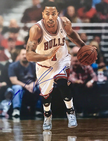 Derrick Rose Authentic Signed 11x14 - Chicago Bulls Timberwolves MVP - Top Notch Signatures LLC