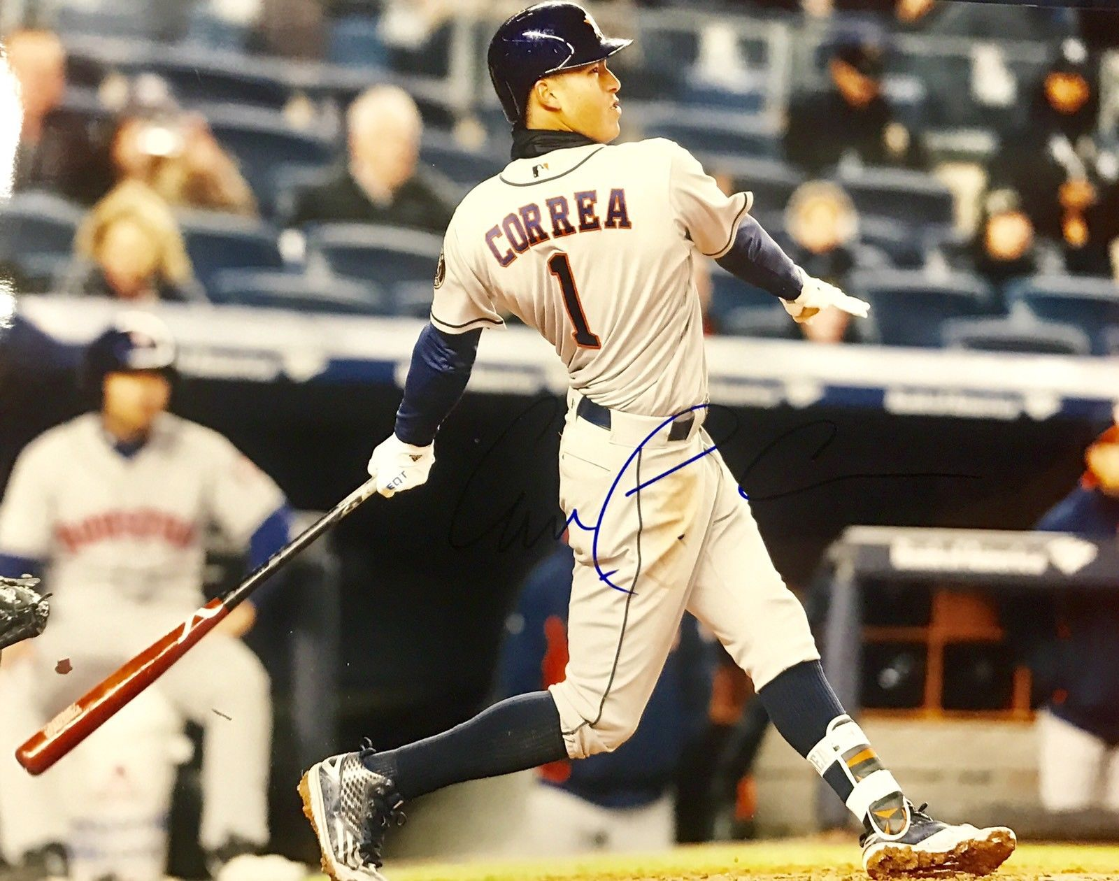 Carlos Correa Authentic Signed 11x14 Photo - HOUSTON ASTROS WS CHAMP ROY - Top Notch Signatures LLC