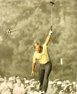 Jack Nicklaus Authentic Signed 16x20 Canvas - MASTERS CHAMP 18 MAJORS RARE - Top Notch Signatures LLC