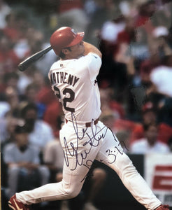 Mike Matheny Authentic Signed 8x10 Photo (COA) St.Louis Cardinals 4x Gold Glove