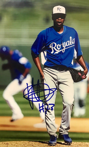 Yordano Ventura Authentic Signed 5x7 Photo (COA) KANSAS CITY ROYALS WS CHAMP RIP