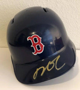 Dustin Pedroia Authentic Signed Boston Red Sox Mini Helmet - MVP WS CHAMP - Top Notch Signatures LLC