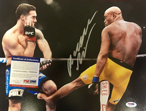 "Anderson Silva Authentic Signed 11x14 Photo PSA/DNA COA UFC ""THE SPIDER"" - Top Notch Signatures LLC"