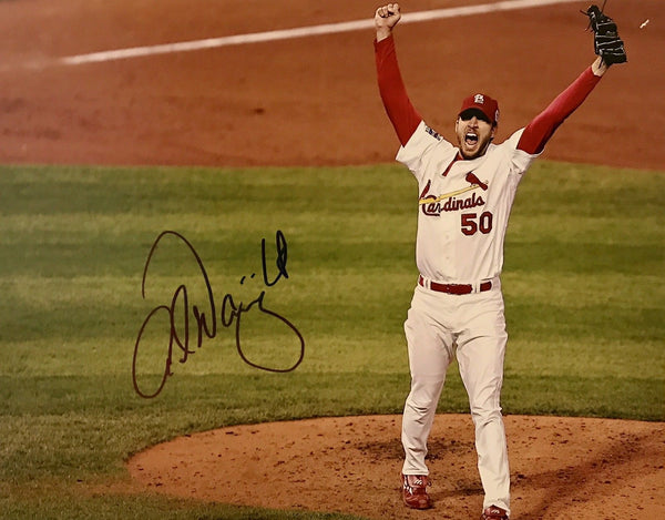 Adam Wainwright Authentic Signed 11x14 Photo - St. Louis Cardinals WS CHAMP - Top Notch Signatures LLC