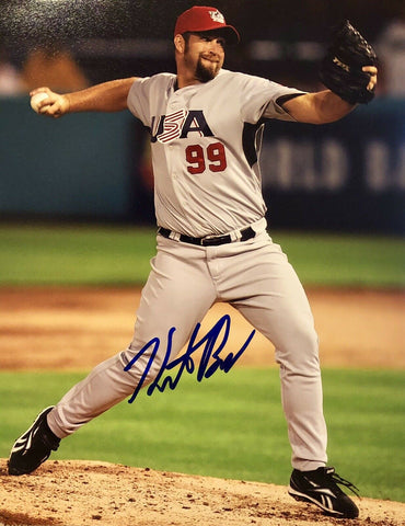 Heath Bell Authentic Autographed Signed 8x10 Photo - San Diego Padres ASG - Top Notch Signatures LLC