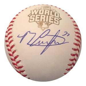 Michael Conforto Authentic Signed 2013 World Series Baseball (COA) NEW YORK METS