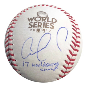 Carlos Correa Authentic Signed 2017 World series Baseball (JSA) WS CHAMP INSC - Top Notch Signatures LLC