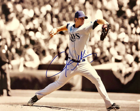 James Shields Authentic Signed 11x14 Photo - Tampa Bay Rays All Star - Top Notch Signatures LLC
