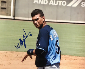 Willy Adames Authentic Signed 8x10 Photo (COA) TAMPA BAY RAYS TOP PROSPECT