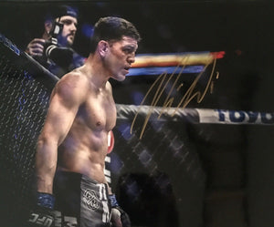 Nick Diaz Authentic Signed 16x20 (COA) UFC WELTERWEIGHT CHAMPION