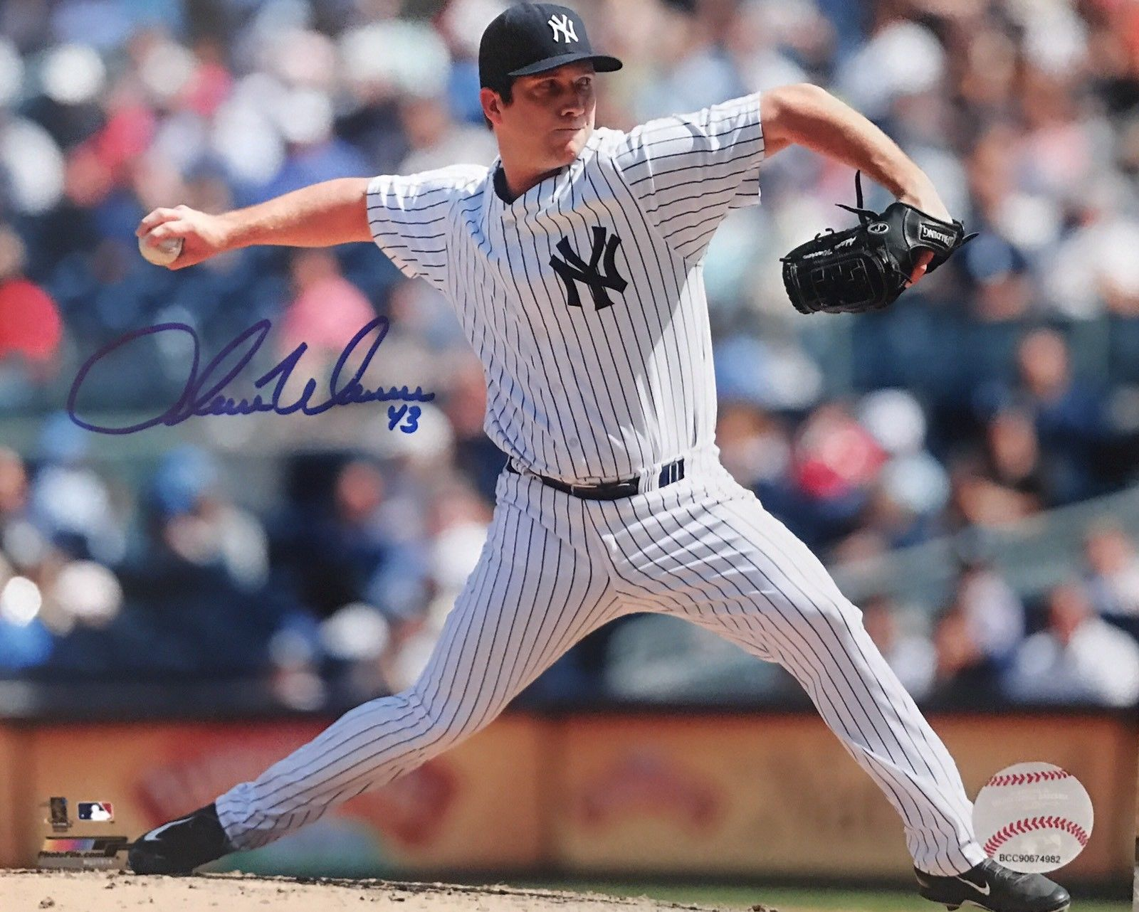 Adam Warren Authentic Signed 8x10 Photo - NEW YORK YANKEES STAR - Top Notch Signatures LLC