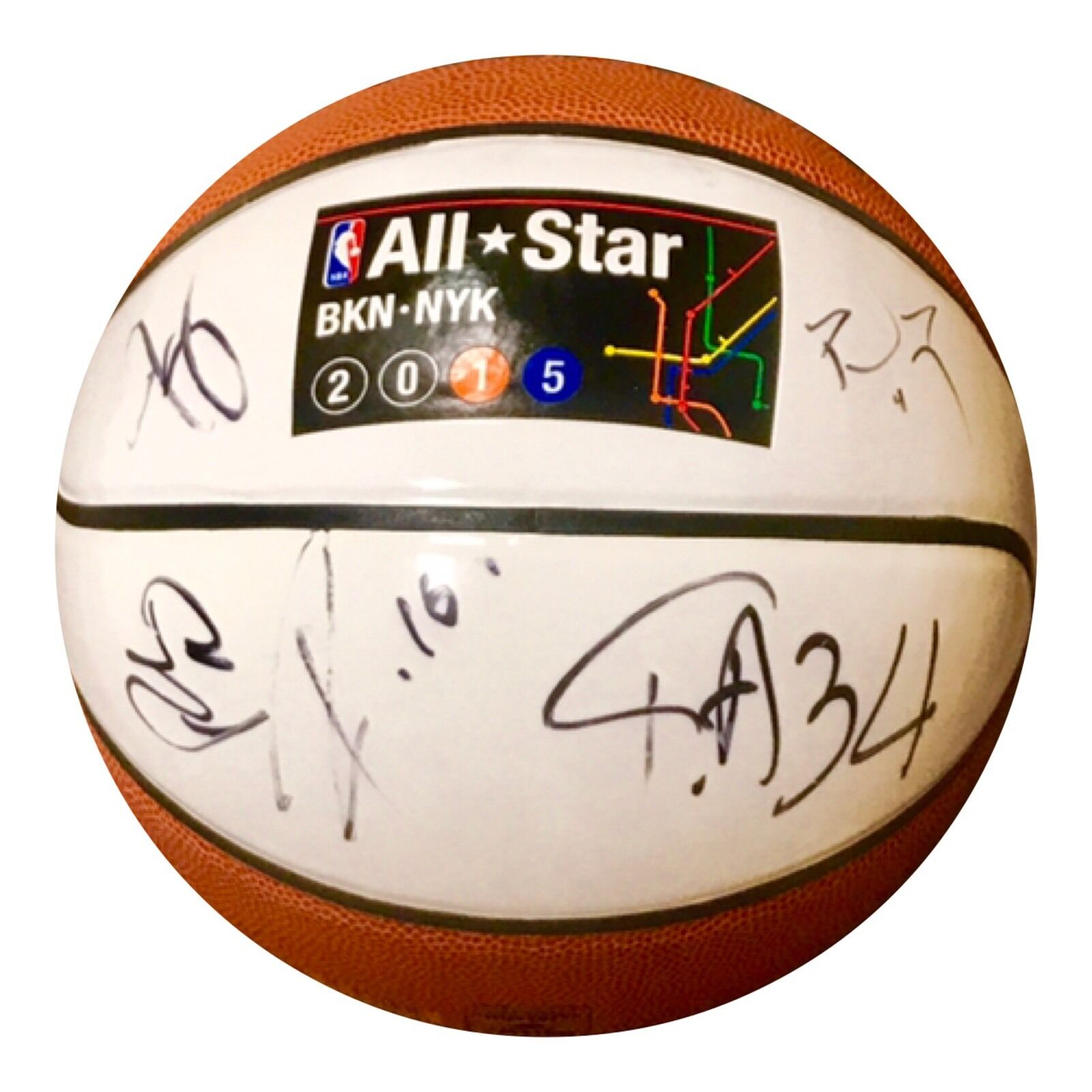 2015 All Star Weekend Authentic Signed Basketball - GIANNIS GASOL THOMAS ETC - Top Notch Signatures LLC