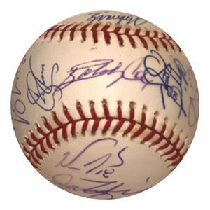 2001 Atlanta Braves Team Signed Baseball - Glavine,Jones, Maddux, Cox - Top Notch Signatures LLC