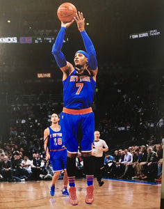 Carmelo Anthony Authentic Signed 11x14 Photo (JSA COA) New York Knicks All Star - Top Notch Signatures LLC