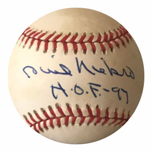 Phil Niekro Authentic Signed MLB Baseball (COA) Atlanta Braves HOF 97
