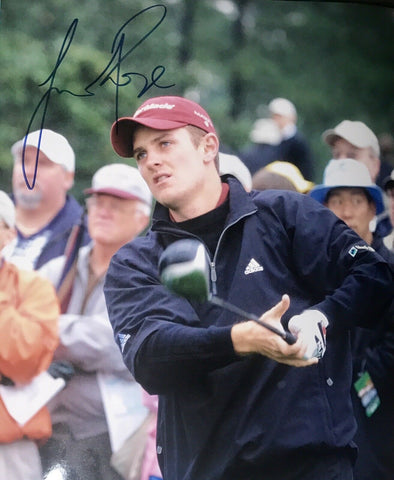 Justin Rose Authentic Signed 8x10 (COA) PGA Tour US OPEN CHAMPION Golf Masters - Top Notch Signatures LLC