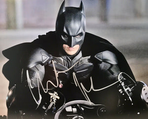 Christian Bale Authentic Signed 11x14 Photo (JSA COA) Batman Dark Knight - Top Notch Signatures LLC