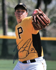 Tyler Glasnow Authentic Signed 8x10 Photo (COA) Tampa Bay Rays Top Prospect