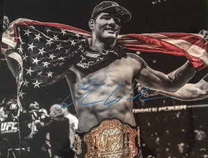 Chris Weidman Authentic Signed 16x20 - UFC MIDDLEWEIGHT CHAMPION - Top Notch Signatures LLC