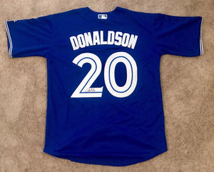 Josh Donaldson Signed Toronto Blue Jays Jersey (COA) NL MVP - Top Notch Signatures LLC