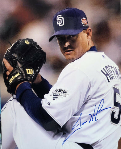 Trevor Hoffman Authentic Signed 8x10 Photo (COA) San Diego Padres HOF
