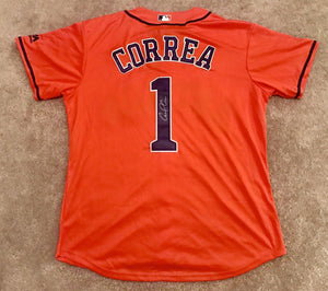 Carlos Correa Signed Houston Astros Jersey - ROY 2017 WORLD SERIES CHAMPION - Top Notch Signatures LLC