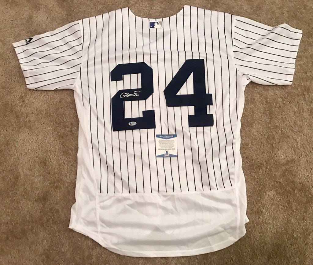 check out 9b47e aa4e8 Gary Sanchez Signed New York Yankees Jersey (Beckett COA) ALL STAR BABY  BOMBERS