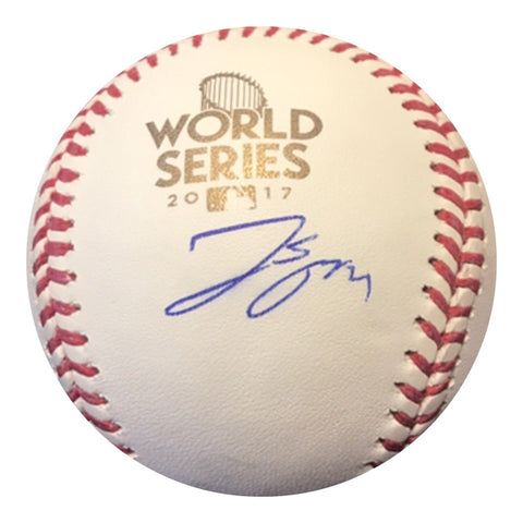 George Springer Signed 2017 WORLD SERIES BASEBALL (JSA COA) MVP HOUSTON ASTROS - Top Notch Signatures LLC