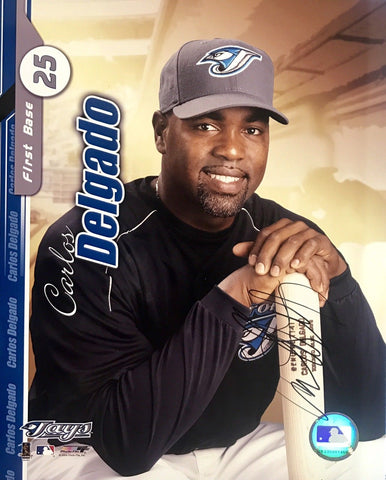 Carlos Delgado Authentic Signed 8x10  Blue Jays Marlins WS CHAMP - Top Notch Signatures LLC