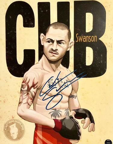 Cub Swanson Authentic Autographed Signed 11x14 Photo (COA) UFC Featherweight