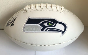 Michael Dickson Authentic Signed Seahawks Logo Football (COA) PRO BOWL