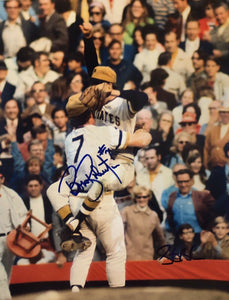 Bob Robertson Steve Blass Dual Signed 8x10 COA 71 World Series Last Out Pirates