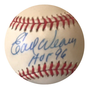 Earl Weaver Authentic Signed MLB Baseball - Baltimore Orioles HOF - Top Notch Signatures LLC